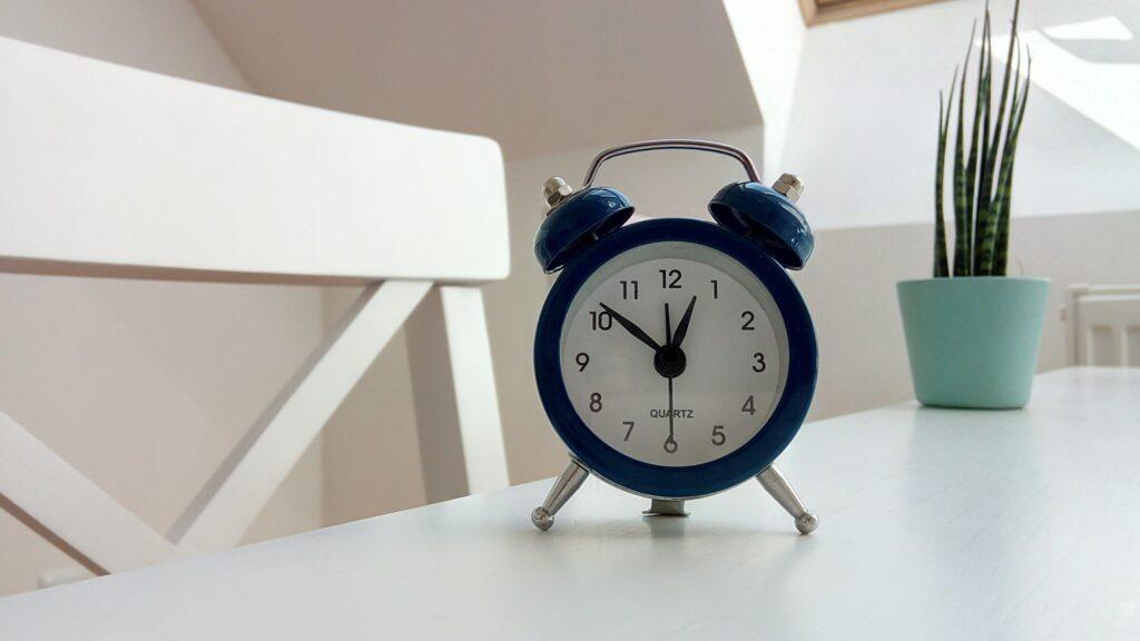 Wecker als Symbol für die Zeit