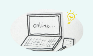 Laptop oder Computer Zeichnung